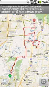This is the North run route we took.